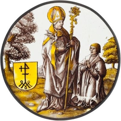 Basil the Great roundel from painted glass by Anonymous ca 1515