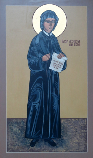 Byzantine style icon of Elizabeth Ann Seton from the church of the same name, Hiawatha, Iowa