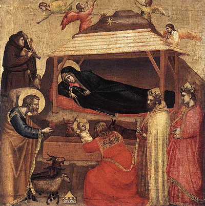 Painting titled The Epiphany by Giotto di Bondone circa 1325