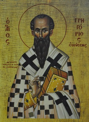 Icon of Gregory of Nyssa. Provenance, date, etc. unknown