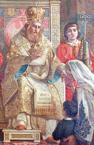 Icon of Savas of Serbia by the hand of Uroš Predić, 1921