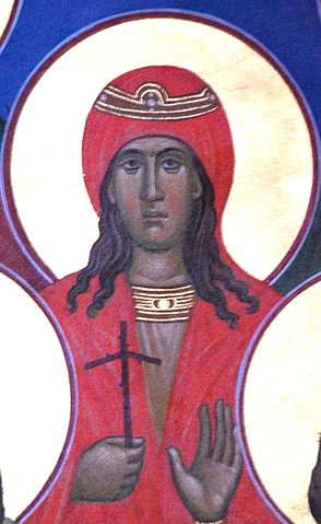 Icon of Nino of Georgia from St Paul's Orthodox Church, Dayton, Ohio