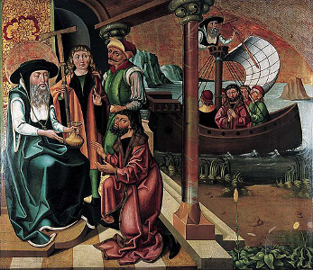 Polyptych of John the Merciful helping an impoverished merchant, circa 1504