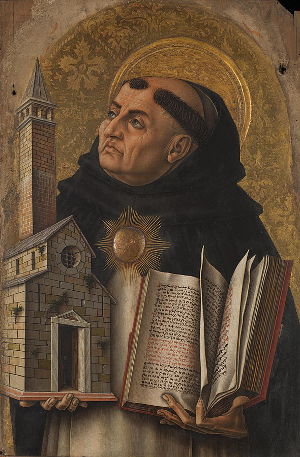 Painting of Thomas Aquinas by Carlo Crivelli, 1476