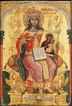 Icon of Theodora (Restorer of Icons) by Emmanouel Tzanes, 1671
