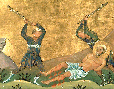 Icon of the martyrdom of Onesimus, Russian, 10th century